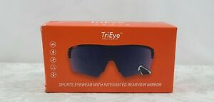 Trieye Sports Eyewear With Rearview Mirror Revo Blue Medium + Extra Lens NEW NIB