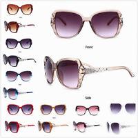 Oversized Vintage Sunglasses Shades Retro Glasses Womens Eyewear oval Designer