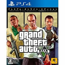Grand Theft Auto Ⅴ Premium Online Ed  SONY PS4 PLAYSTATION 4 JAPANESE VERSION
