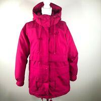 Vintage Eddie Bauer Womens L Thick Pink Puffer Down Gore-Tex Heavy Parka Jacket