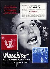 CINEMA-soggettone MACABRO prince, backus, white, CASTLE