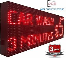 "Outdoor Business Open Led Sign 15"" x 25"" Red Color Scrolling Text Logo Display"