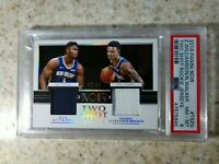 2019 Noir Zion Williamson + Nickeil Alexander-Walker Two-Shot Patch RC/99 PSA 8