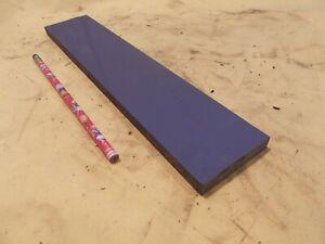 "GRAY PVC BAR machinable plastic flat sheet stock 7/16"" x 2 3/8"" x 12"""