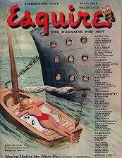 1946 Esquire July - Baltimore Orioles; Titanic; Ty Cobb; Peiree art;Jane Russell