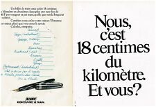 PUBLICITE ADVERTISING  054  1978  SNCF  le billet de train  ( 2 pages)
