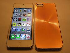 Gold iPhone SE 5S 5G 5 SPIRAL Aluminum Metal Back Designer Case & Clear Side NEW