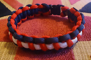 Royal Navy Help For Heroes Inspired Paracord 550 Bracelet