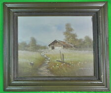 Vintage Framed Signed Haywood Farm House Painting