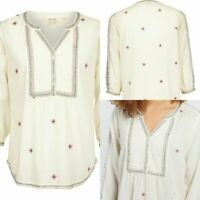 Ex  FAT FACE POPPY EMBROIDERED POPOVER BLOUSE NOW £14.99 + 3.99 Delivery!  (B43)