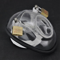 Male Men Polycarbonate Covert Bowl Penis Chastity Device Belt Locking