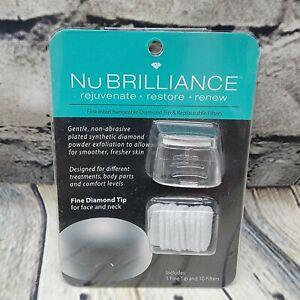 NuBrilliance Fine Interchangeable Diamond Tip & 10 Replaceable Filters Face Neck