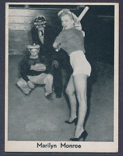 "1950's Dutch Filmphoto-Svc Marilyn Monroe ""baseball card"" RARE  Unique? (B&BEnt)"