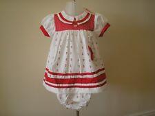 Baby Girl Dress headband Pants red/blue  Spanish Romany Style 6 - 23 months