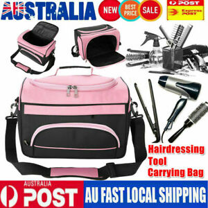 Multi-functional Hairdressing Equipment Tool Carrying Travel Storage Bag Pink