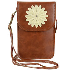 Women Leather Flower Phone Pouch Shoulder Bag Clutch For Samsung Galaxy Note 10+