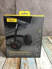 Jabra Evolve 75 Wireless Bluetooth Headset Black *READ*