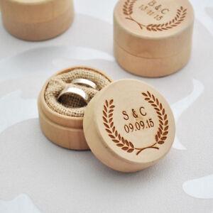 Custom Ring Box Personalized Wedding Valentines Engagement Wooden Bearer Holder