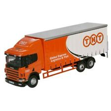 1:76 Oxford Diecast Scania 94 6 Wheel Curtainside Tnt - Model Delivery Lorry