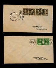 1932 Washington Bicent Scott# 704-15 CPL Matched Addressed First Day Covers FDC