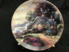 Thomas Kinkade Simpler Times A New Day Dawning Calendar Plate - August