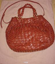 Miu Miu Women's Woven Leather Hobo Bag , 100% Authentic