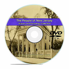 New Jersey NJ, Civil War, Family Tree History and Genealogy 79 Books DVD CD B10