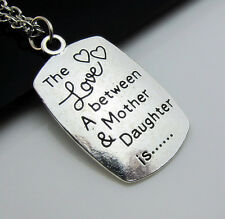 Free Simple Tibetan Silver pendants Charm Necklace Daughter and mother's gift