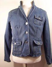 472646ecc5a Relativity Womens Denim Jeans Jacket Button Front Size L