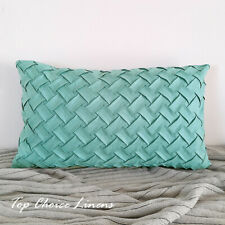 30cm x 50cm Home Sofa Decor Suede Like Chevron Cushion Cover- Mint
