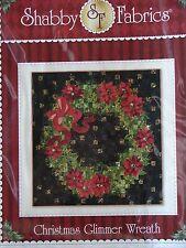 Shabby Fabrics Christmas Glimmer Wreath Pattern