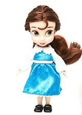 "DISNEY MINI DOLL ANIMATORS COLLECTION 5"" BELLE BLUE DRESS BEAUTY & THE BEAST TOY"