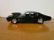 WELLY 1/18 BLACK 1970 CHEVY CHEVELLE SS 454 PRO STREET USED NICE *ISSUE* READ