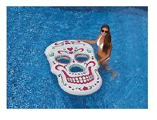 Sugar Skull Giant Pool Float Tattoo Graphic Raft Swimline 90555 Beach Inflatable