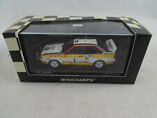 1 43 Minichamps #430841901 Audi Quattro Monte cario Rally 1984 ganadores #1