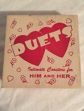 Funny Adult Novelty Gag Gift. Bachelorette. Wedding. Duets Intimate Coasters Vtg