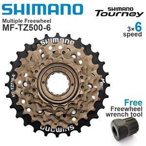 SHIMANO TOURNEY MF-TZ500 6/7Speed MTB Freewheel Metal Thread Sprocket Screw On