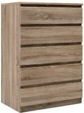 Beige 5 Drawer Dresser Chest Brown Wood Bedroom Furniture Truffle Tall Dressers