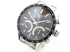 Auth TAG Heuer Carrera Calibre S CV7A12/CV7A12.BA0795 Black Men's Wrist Watch