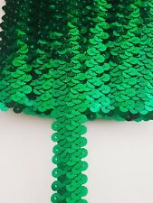 1m Green Stretch Sequin Ribbon
