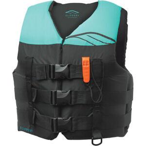 Slippery Women's Hydro Nylon PFD Life Vest (Black / Mint) Choose Size