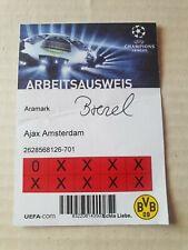 Sammler Ticket BVB Borussia Dortmund Ajax Amsterdam UEFA CL 2012/13 Arbeitskarte