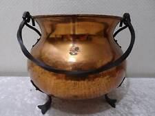 Kupfer Topf / Kessel mit Griff aus Schmiedeeisen - Vintage - Handgefertigt