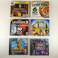 NEW Lot of 6 PC CD ROM - 131 Total Games - $60 Retail Value