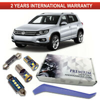 VW Tiguan 5N LED Interior Premium Set 10 SMD Bulbs White Error Free Canbus