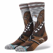 STANCE MENS STAR WARS SOCKS.NEW CHEWIE PAL CHEWBACCA CREW SIZE LARGE UK 8.5-11.5