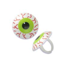 Halloween Eyeball Cupcake Rings One Dozen