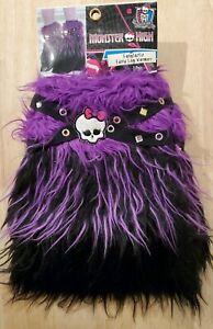 NEW Monster High CLAWDEEN Thick Furry PURPLE & Black Leg Warmers -Kids