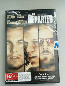 The Departed DVD DiCaprio Damon Nicolson Wahlbery MA15+ BRAND NEW IN PLASTIC