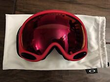 Oakley A Frame 2.0 Copper Red Prizm Torch Iridium Ski Snow Snowboard Goggles